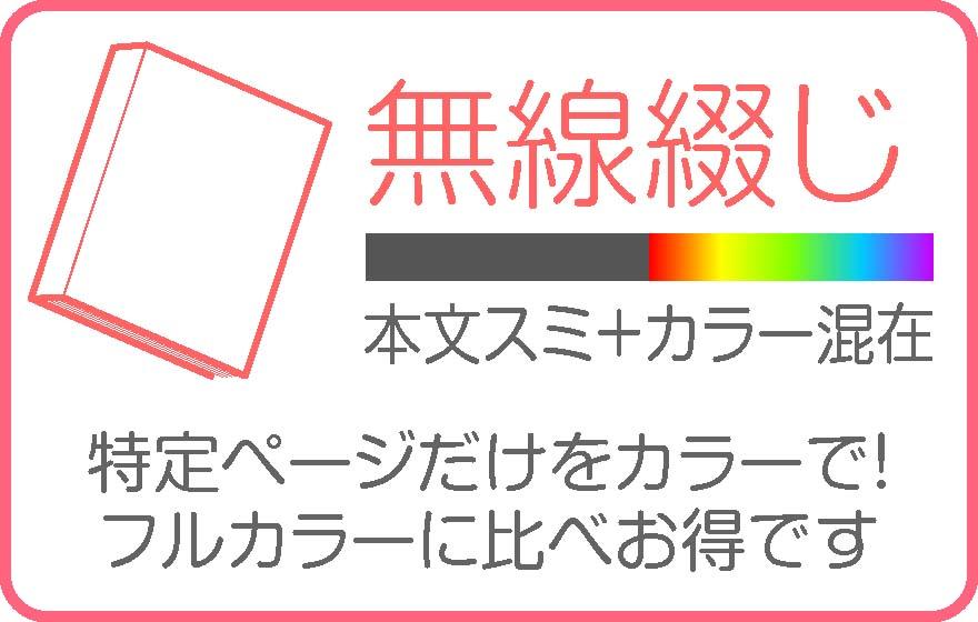無線綴(本文スミ+本文カラー)